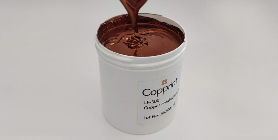 Copprint Nano Copper Ink LF-300 for Paper Substrates Now Shipping